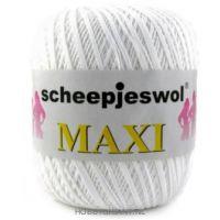 wit Maxi van Scheepjes, dun katoen